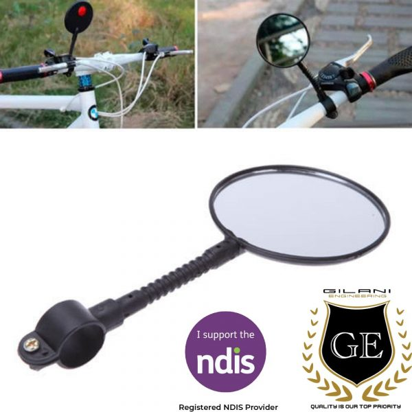 Detachable Mirror For Wheelchairs and Mobility Scooter