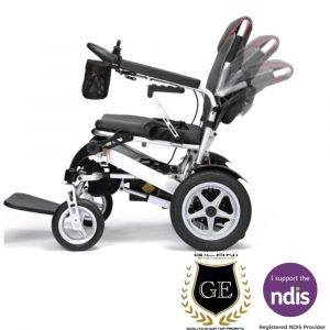Light weight auto folding travel portable electric mobility wheelchair with security remote control