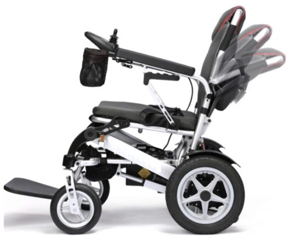 Lightweight auto folding travel portable electric mobility wheelchair with security remote control