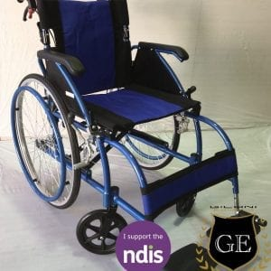 Light weight Aluminium Manual Wheelchair in Blue and black