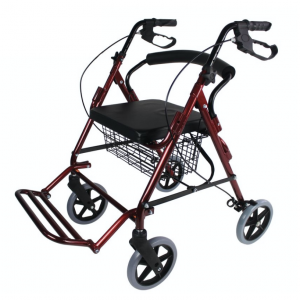 4 wheel rollator with practical and durable frame