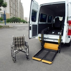 Hydraulic Accessible Wheelchair taxi Lift hoist for vehicle GILANI ENGINEERING Wheelchair accessible vehicles
