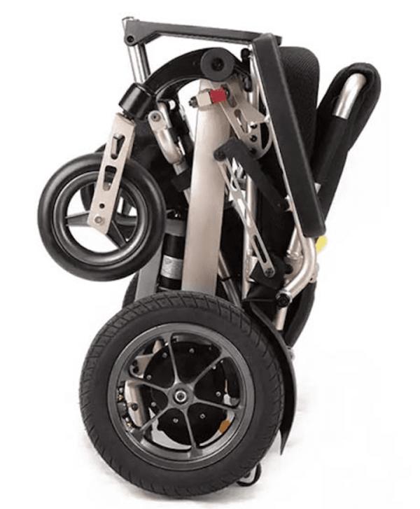 Folded wheelchair