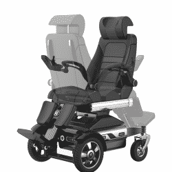 Vertical Lift Standing Electric Wheelchair With Adjustable Seat and Backrest Manual Rotation