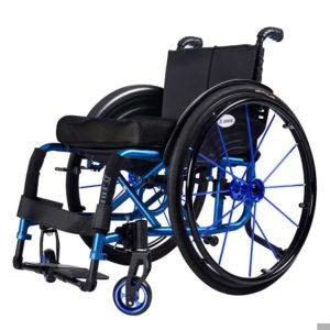 Aluminium Lightweight Wheelchair Sport Wheelchair blue