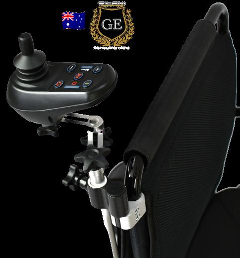 Universal Adjustable Carer Attendant Joystick Bracket 2 carer bracket