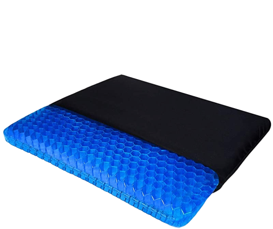 Gel seat cushion with cover