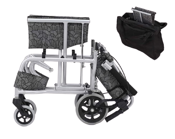 Transit Wheelchair Manual Foldable with Carry Bag