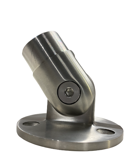 Stainless Steel Flexible Handrail wall floor mounted pipe fittings