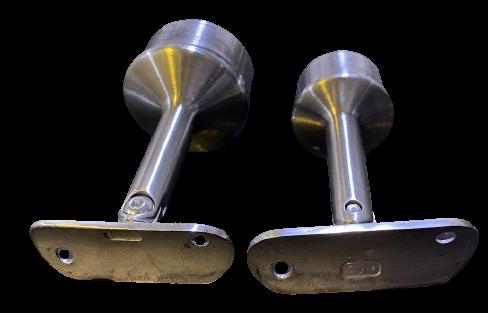 Post Mount Tubular Angle-Adjustable Stainless Steel Handrail Bracket