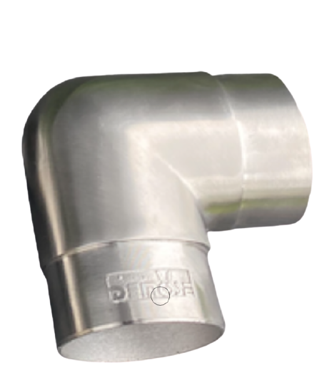 Stainless Steel Curved Flush Elbow Fitting Rail brackets