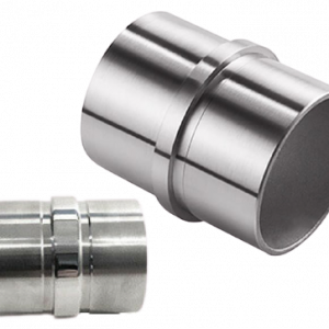180 Degree Stainless Steel Handrail Balustrade two pipe connector