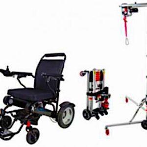 Portable Boot Hoist Electric Wheelchair Transfer Hoist Plus GED09 electric Folding Wheelchair Sale Package Deal Folding Electric Wheelchairs Australia