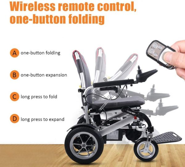 Auto Folding Electric Wheelchair Lightweight with a Remote Control 6