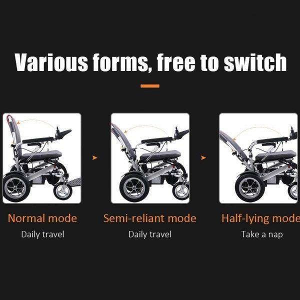 Auto Folding Electric Wheelchair Lightweight with a Remote Control 5