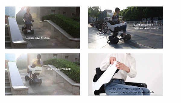 Electric Wheelchair Scooter With Unique Omnidirectional Wheels IGET1 10