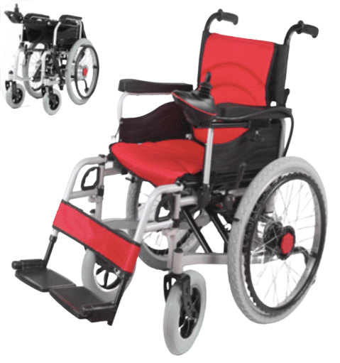 Electric Wheelchair With Manual Self Propelled Heavy duty 125 kg capacity GILANI ENGINEERING