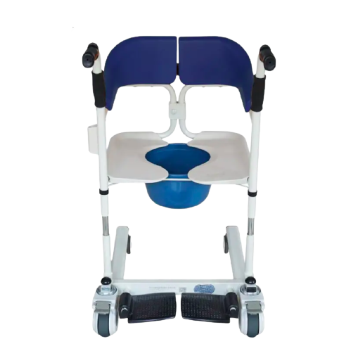 Transfer Commode and Over Toilet Wheelchair 110 weight capacity Homes Age Cares and Hospitals GILANI ENGINEERING