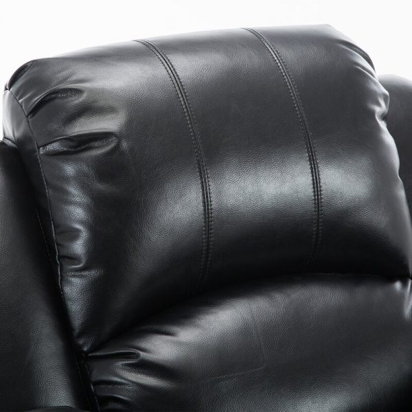 Electric Power Lift Recliner Chair Sofa Synthetic Leather Black Gilani Engineering 2