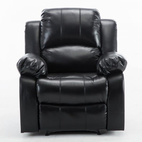 Electric Power Lift Recliner Chair Sofa Synthetic Leather Black Gilani Engineering 3