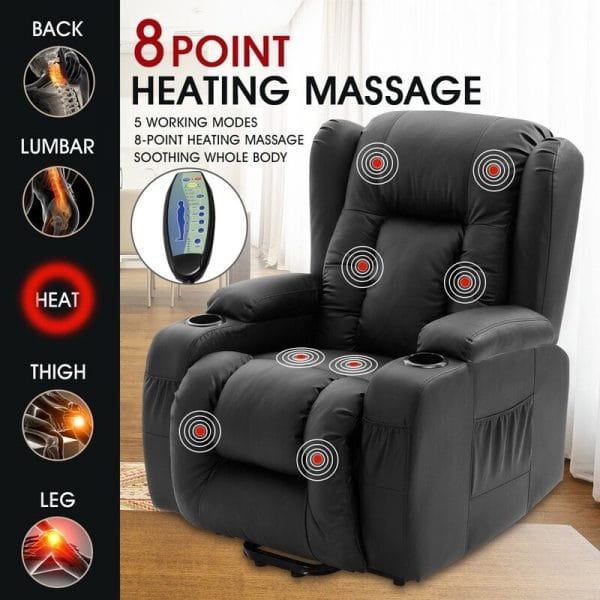 Recliner Lift Chair With Heat And Massage New Yorker
