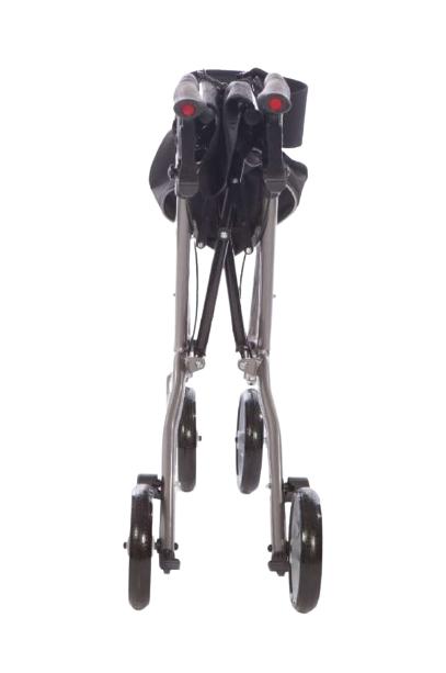 Foldable 4 wheel rollator frame
