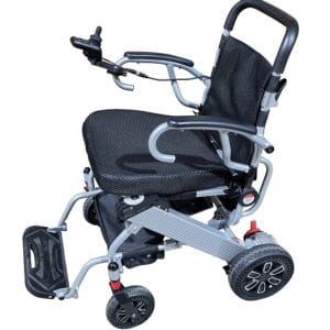 Power Wheelchair with flip up armrest to easy access