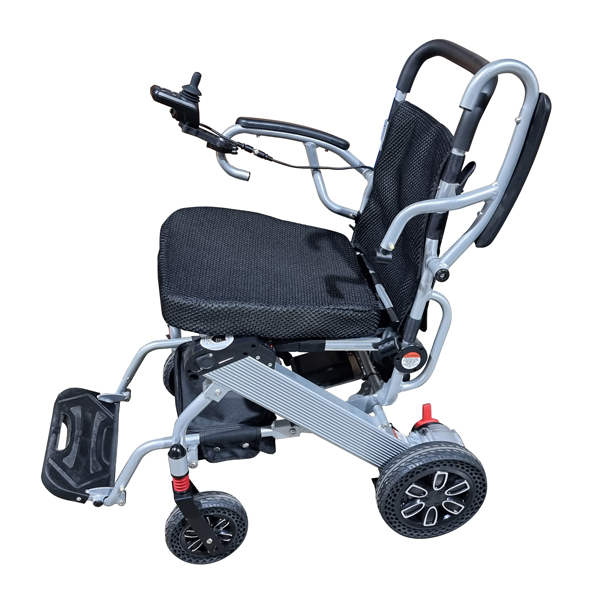 Foldable Electric wheelchair with flip up armrest to access your dinning table