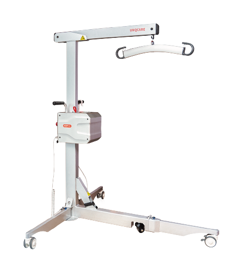 Patient hoist lifter transfer solution easy folding light-weight 3 wheel remote controller