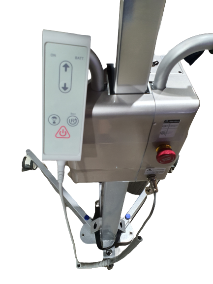 lifter hoist patient transfer hand controller scrum stop button padded handle bars