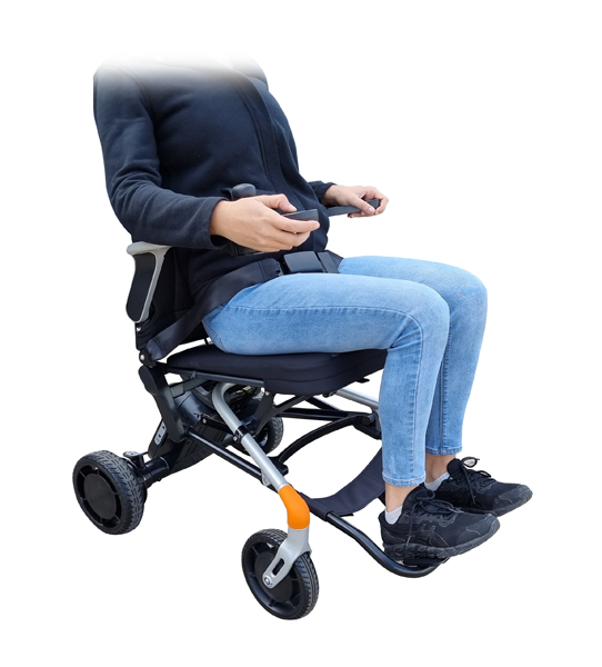 Comfortable Power wheelchair lightweight foldable heavy duty electric Assistive wheelchair