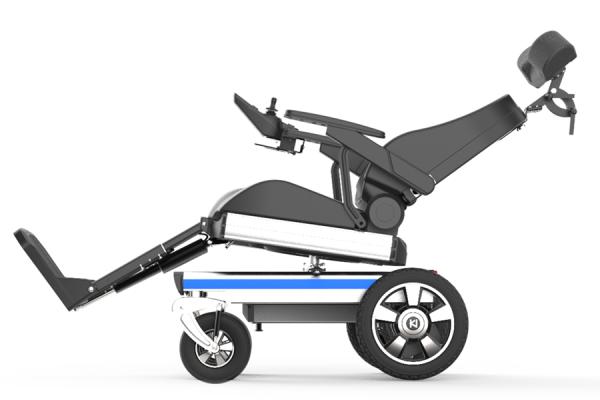 Unique recliner foldable electric wheelchair