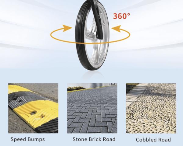360 motion Wheels for Aluminium Walking Rollator Frame