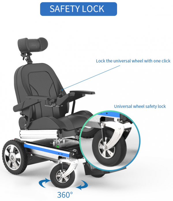 Reclining Electric Wheelchair Sydney Folding Standing Recliner Mobility Chair Optimum