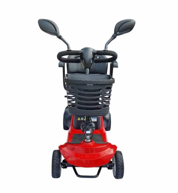 """Scooter mobility electric power rotating seat with mirrors 4 wheel solid tyre 8"""" with basket"""