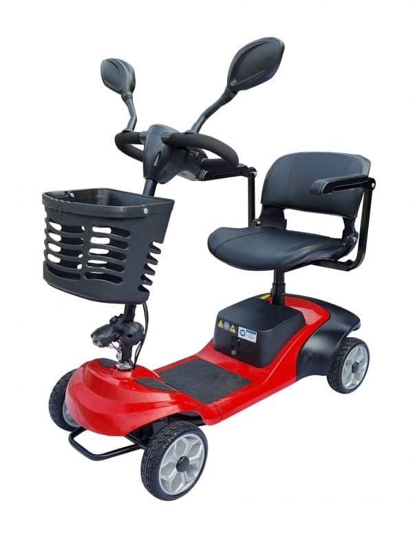 Mobility scooter with swivel seat option