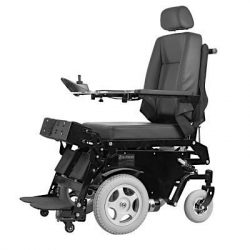 Standing Wheelchair Electric Mobility Aid with Back and footrest