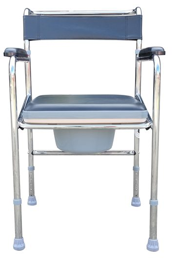 Adjustable Shower Toilet Bedside Commode Chair Toilet Aid Stool with Potty