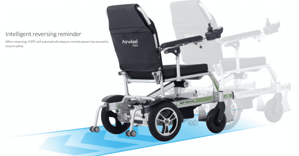 H3PC Airwheel Automatic folding powered wheelchair with swinging footrest