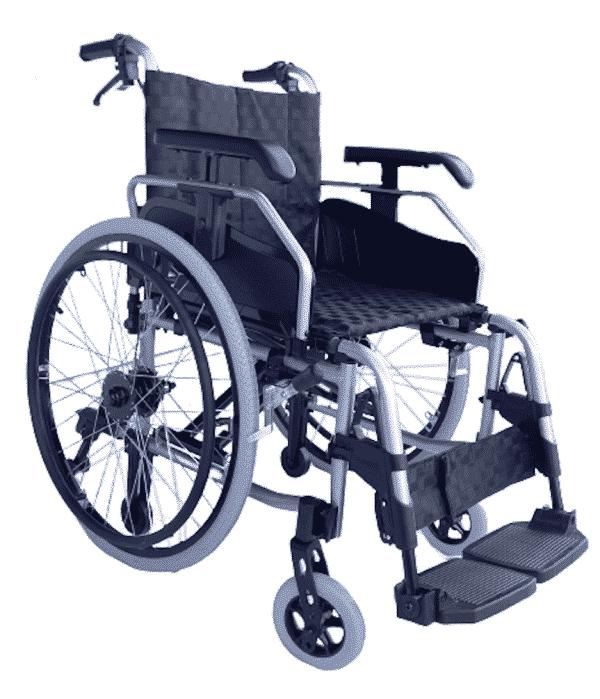 Lightweight manual push wheelchair Heavy duty lightweight manual wheelchair with attendant brakes