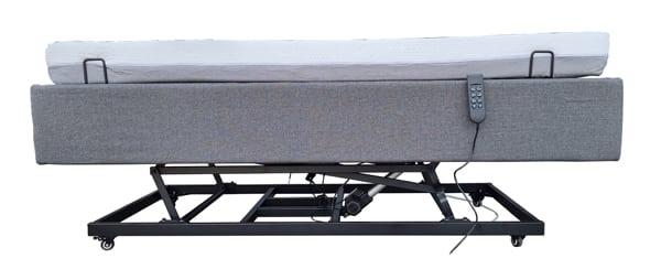 Electric Bed Adjustable Timber Single HI-LO Assistive Bed with Remote Control and Flexi Mattress