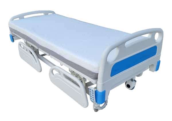 Electric Hospital Bed with split side rails, headboard and foot board for safety, five function remote control automatic bed