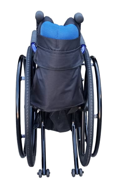 Manual wheelchair self propelled with safety anti tipping wheels foldable pushchair