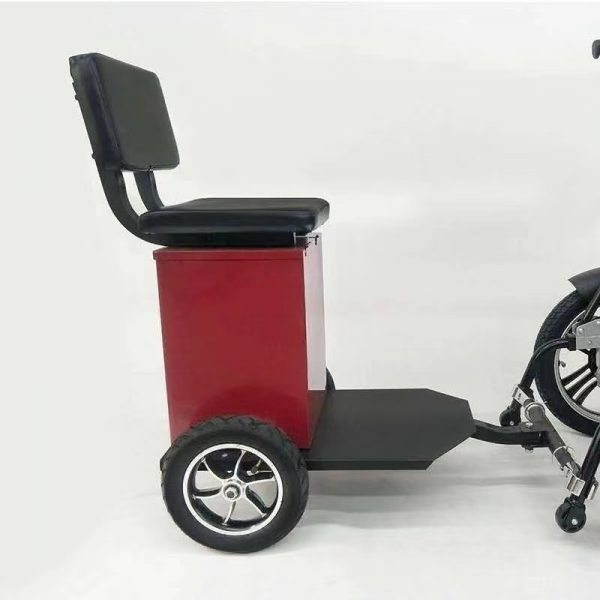 Piggy Back wheelchair seat attachment for Electric Wheelchair with storage