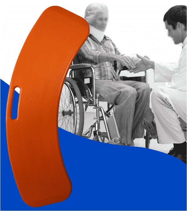 Transfer board Slide Board Pat Board for patient transfer suitable for aged care wheelchair users