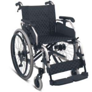 Manual Self Propelled Wheelchair with attending handbrakes