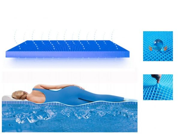 Support Gel Mattress Cushion Pad with Protective Cover