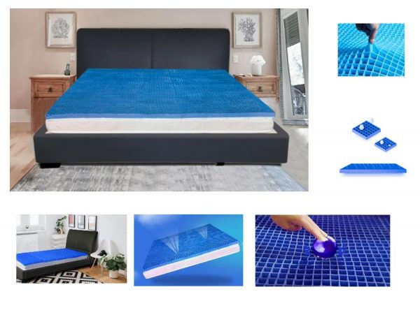 Soft comfort Gel Mattress Pad Cushion with protective cover