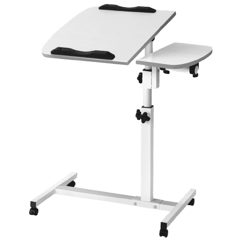 Overbed Table on Wheels for Books, Laptops and Meals