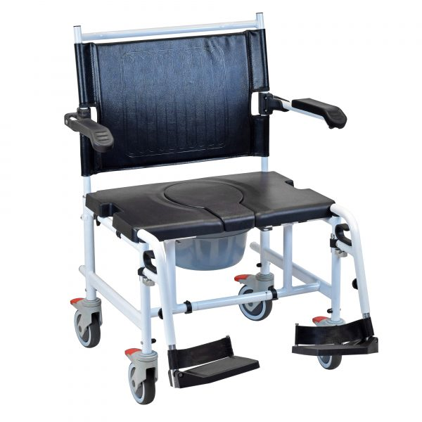 Bariatric commode chair multipurpose oversized toilet aid